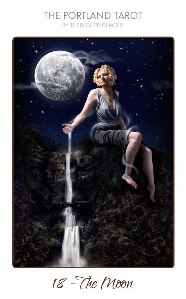 The Moon - Round One - The Portland Tarot by Theresa Pridemore