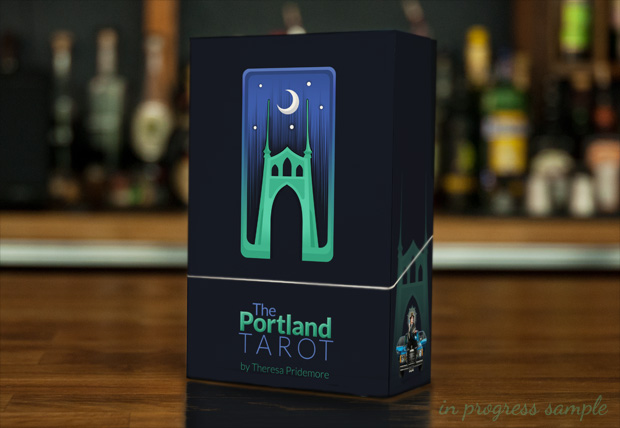 The Portland Tarot in progress box design
