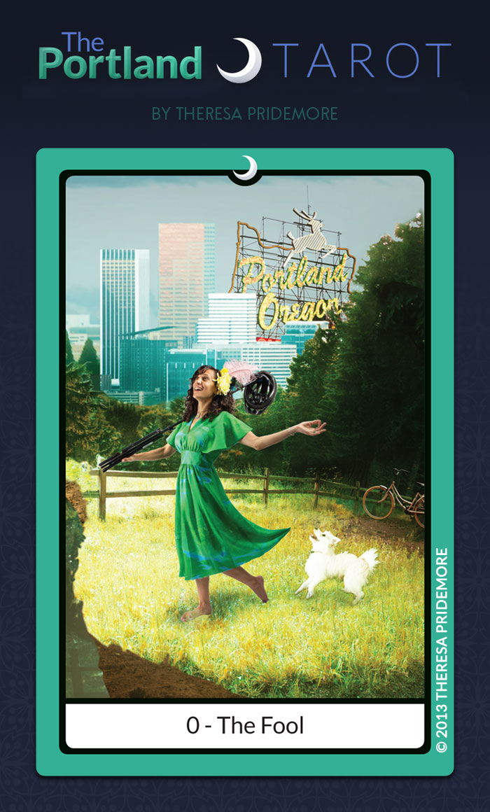 The Portland Tarot Major Arcana - 0 The Fool
