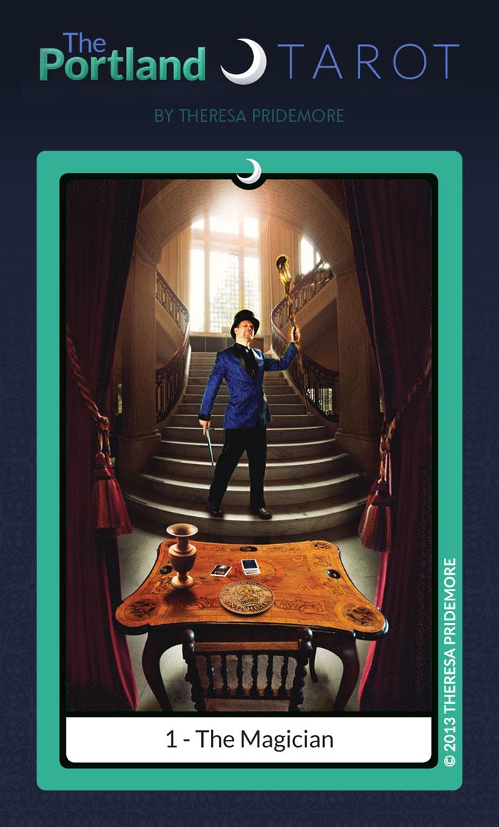 The Portland Tarot Major Arcana - 1 The Magician