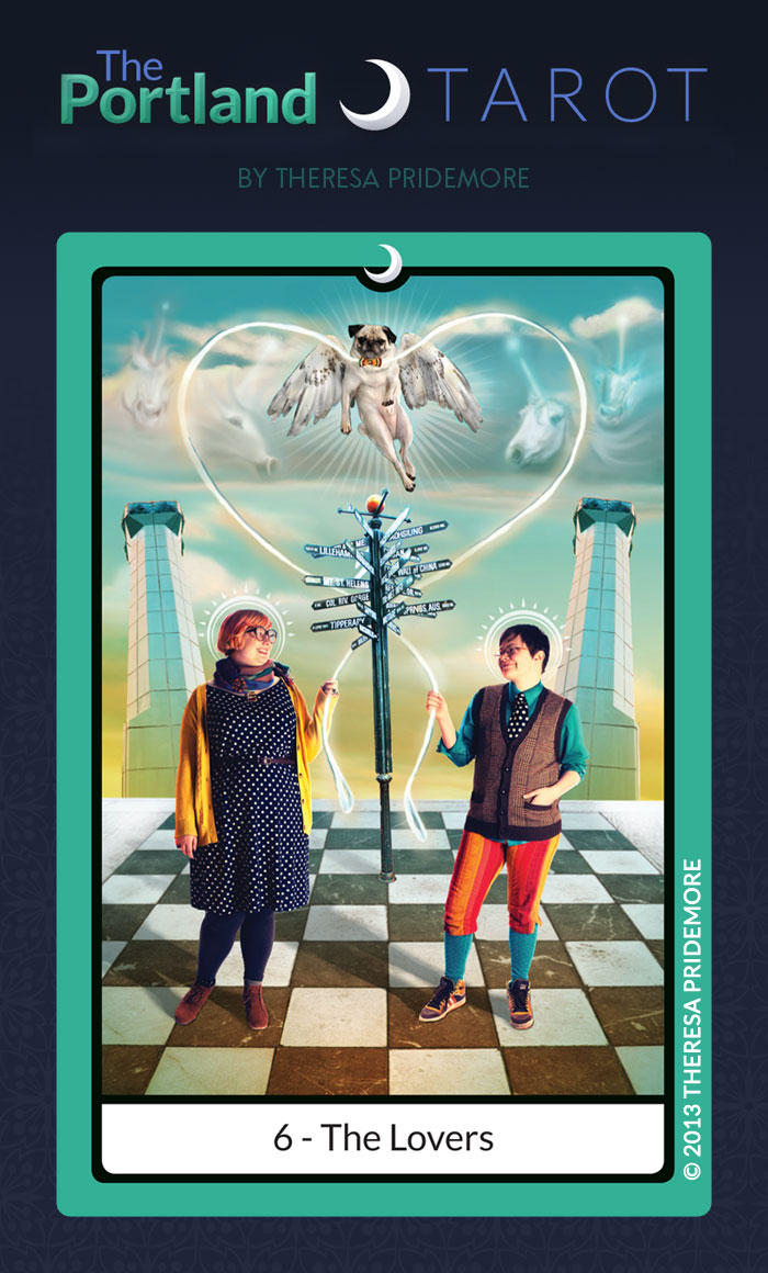The Portland Tarot Major Arcana - 6 The Lovers