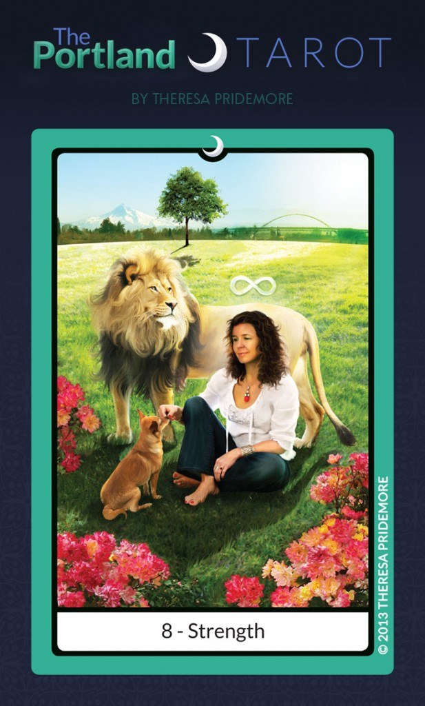 The Portland Tarot Major Arcana - 8 Strength
