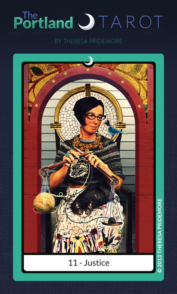 The Portland Tarot Major Arcana - 11 Justice