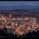 Portland Cityscape by Theresa Pridemore, View from Portland City Grill